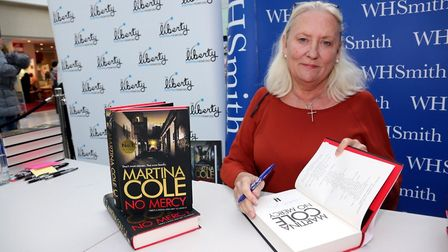 The Queen of Crime, Martina Cole at The Liberty. Picture: Sandra Rowse