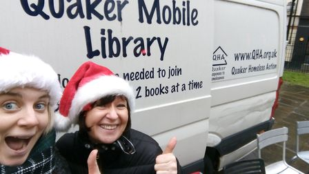 The van was due to have shelves fitted and books installed to support the team in making books avail