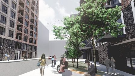 What the developments in Clements Road, Ilford, will look like. Picture: Rock Townsend