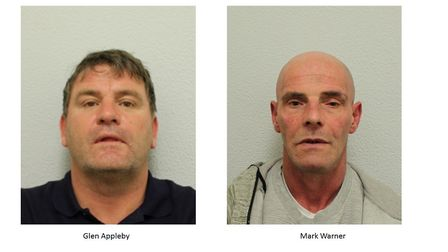 Glen Appleby and Mark Warned have been jailed for five years each. Pictures: Met Police