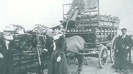 Harrison's Nursery wagon leaves north Romford to take plants to Covent Garden Market. Picture: Bygon