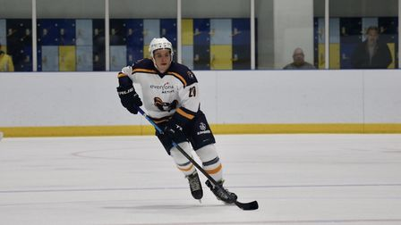Jan Marcilis rushes up the ice (pic Nikki Day)