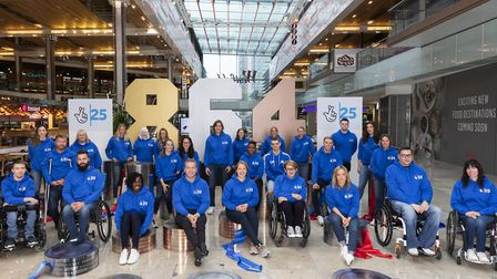 25 Olympic and Paralympic medallists gathered at Westfield Stratford City to celebrate The National