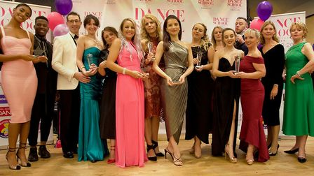 Winners and judges of the dance competition with Anne Walker MBE. Picture: Stu Booth and M Anthony