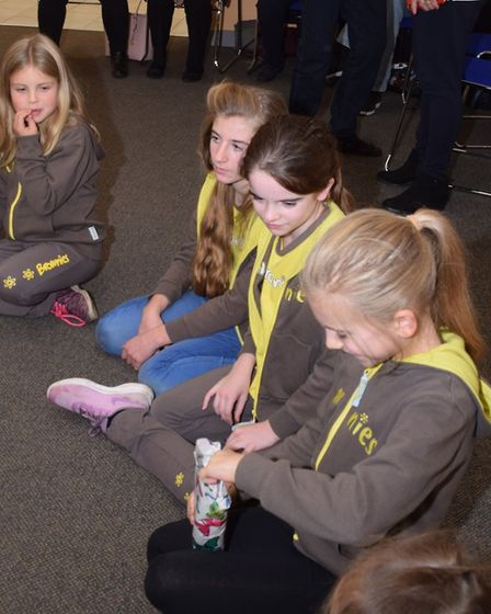 The 1st Cranham Brownies played traditional party games at the 75th anniversary event. Picture: Davi