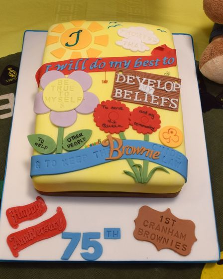 The 1st Cranham Brownies celebrated their 75th anniversary on Monday 30, October. Picture: David Hen