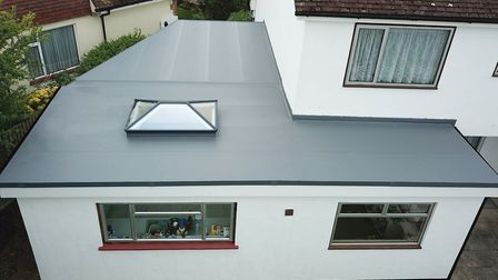 High-Tech Membrane Roofing's roof lanterns are a perfect match to existing PVC-U windows and doors.