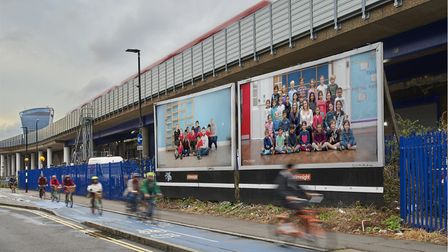 A billboard in Cable Street, Tower Hamlets. Picture: Theo Christelis