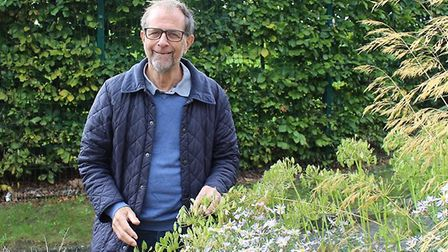 BBC Essex's Ken Crowther is encouraging volunteer gardeners to help out at the Lavender Garden in Qu