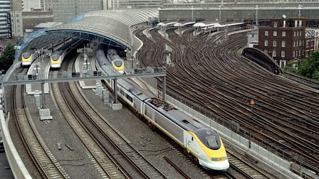 A Eurostar train pulls out of Waterloo station. Picture: David Cheskin/PA