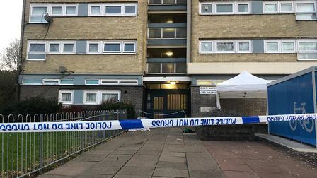 A teenager has been stabbed to death outside Owen Waters House in Clayhall. Picture: Imogen Braddick