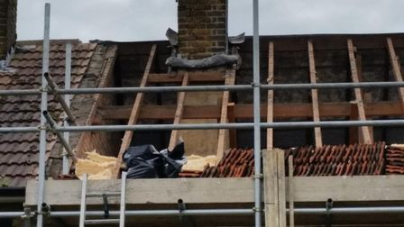 The whole roof was ripped off by contractors who somehow did not notice or report asbestos in the lo