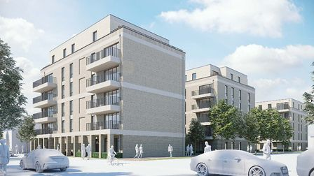 Artist's impression of the Earlham Grove development. Picture: Hill