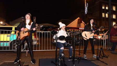 Decibella's performing in the High Street at the Upminster Christmas lights switch-on event on Thurs