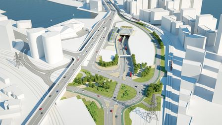 A CGI of the Silvertown Tunnel. Picture: TfL