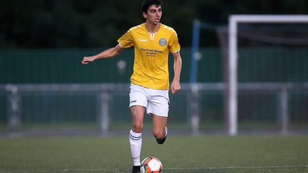Bailey Brown of Woodford during Woodford Town vs Tower Hamlets, Essex Senior League Football at The