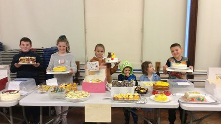 Pupils at Harold Court Primary School in Harold Wood baked cakes for children in need. Picture: Haro