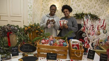 Jasmine Tonge and Cherlyn Letang at Valentines Mansion Christmas fair in 2017. Picture: Ellie Hoskin