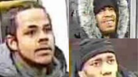 The British Transport Police has released three CCTV images of men police officers would like to spe