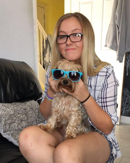 Jodie with beloved family dog Woody. Picture: Met Police