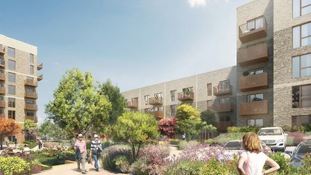 Artist impression for the Solar Serena and Sunrise Court in south Hornchurch. Picture: Havering Coun