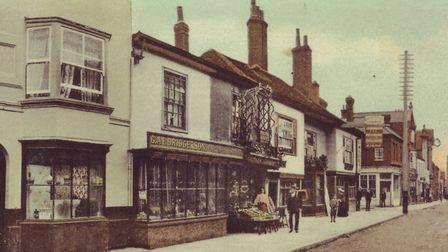 Brentwood High Street as it looked in Victorian times.