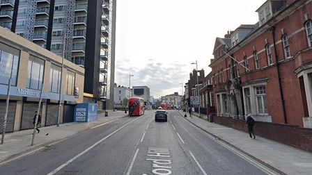 Ilford Hill is going to be closed to cars as part of major transformation of the junction. Picture: