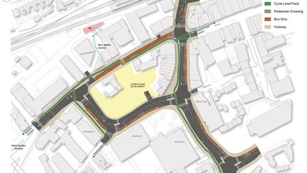 The plans for Ilford Hill and Chapel Road. Picture: Momentum/Redbridge Council