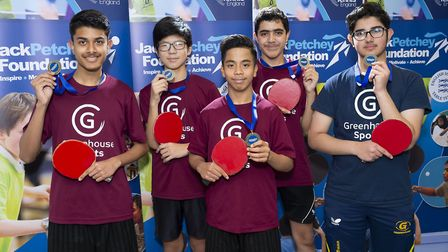 Newham's Rokeby School won the under-16 boys event (pic Stephen Pover)