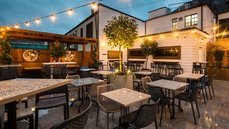 The new roof terrace at The Moon and Stars pub in South Street, Romford. Picture: Gillian Evans