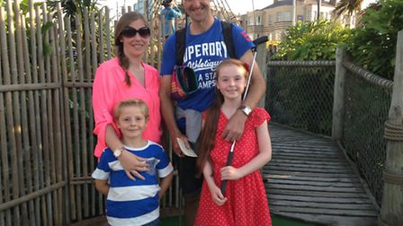 Darren Boyd pictured with his family