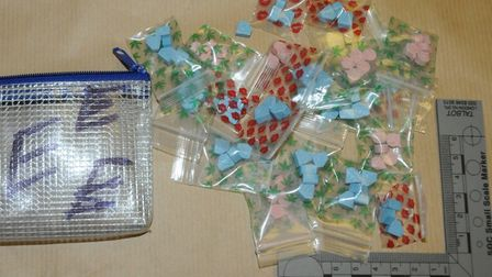Some of the chemical-enhansing sex drugs packaged and sold by Jakubik on the streets. Picture: City