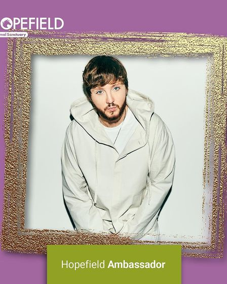 James Arthur has been announced as a new amabassador for Hopefield Animal Sanctuary in Brentwood.