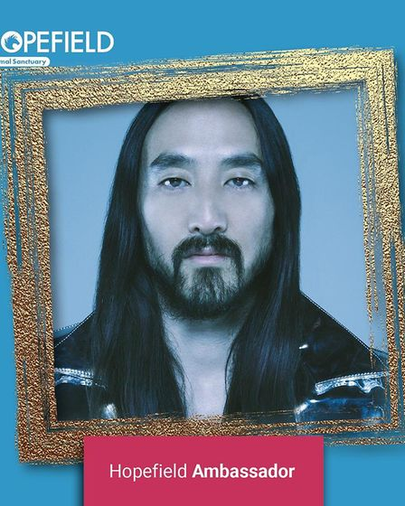 Steve Aoki has been announced as a new amabassador for Hopefield Animal Sanctuary in Brentwood.