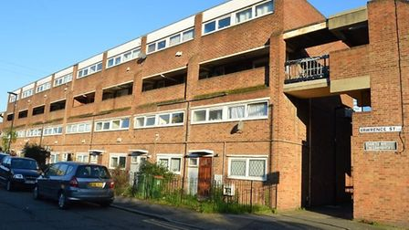 Lawrence Street, Canning Town falls within one of the zones earmarked for demolition. Picture: Hanna