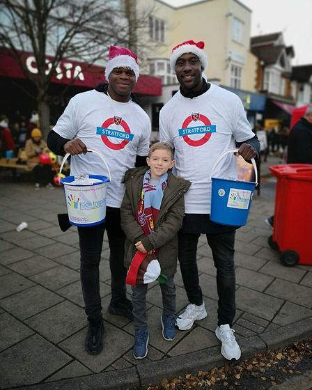 West Ham legends Carlton Cole and Marlon Harewood helping raise funds for Kids Inspire at the Shenfi