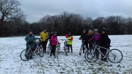 The group meets Wednesday mornings term time. Picture: Cycle Sisters