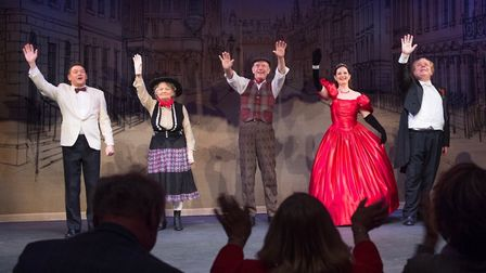 Performers from the Magnificent Music Hall show. Picture: Mark Sepple