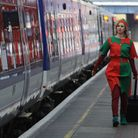 A Christmas Elf starts her long journey back to the North Pole. Picture: PA