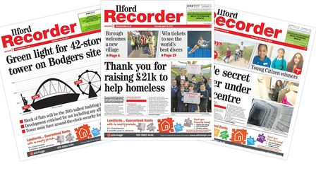 A selection of Ilford Recorder front pages from throughout 2019. Pictures: Recorder Archives
