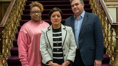 Youth Safety Board member Keisha McLeod with co-chairs Newham Mayor Rokhsana Fiaz and Kings College