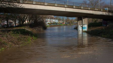 The river reaching high levels in Woodford Green. Picture: Colin Drummond