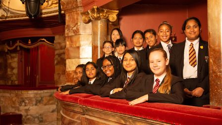 The Langdom Academy choir performed at the London Coliseum as part of English National Ballet's prod