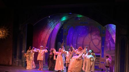 The cast of Sleeping Beauty at the Kenneth More Theatre. Picture: Roy Chacko
