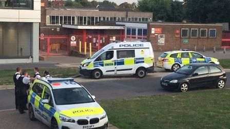 Police responding to an incident at Harold Hill's Lidl in Gooshays Drive on Saturday, August 31.