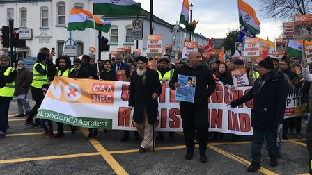 The march started in Romford Road on Saturday morning (January 4). Picture: Jon King