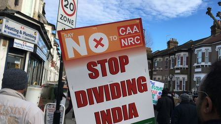 Marchers claim the Indian government is trying to divide communities along religious lines after the