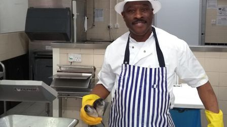 Christopher Tajah, writer and lead in Dream of a King, works as a fishmonger three days a week. He's