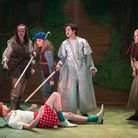 The cast of Queen's Theatre's Christmas pantomime Robin Hood. Picture: Mark Sepple