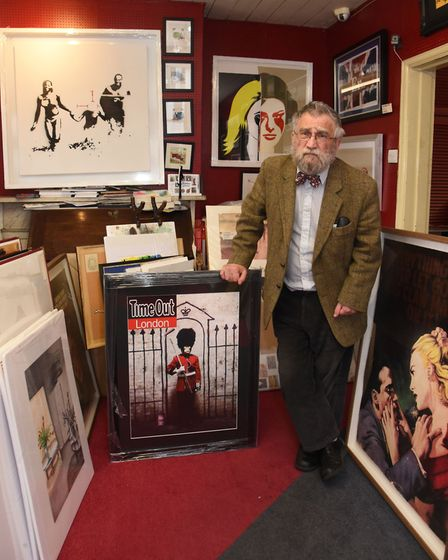 Art collector John Brandler has a number of works by Banksy at his gallery in Brentwood.
